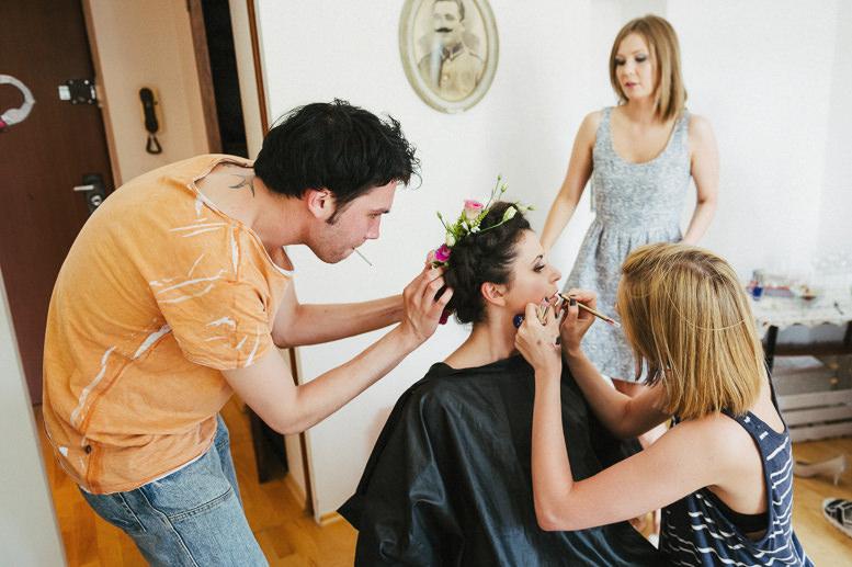 Domowe przygotowania do ślubu
